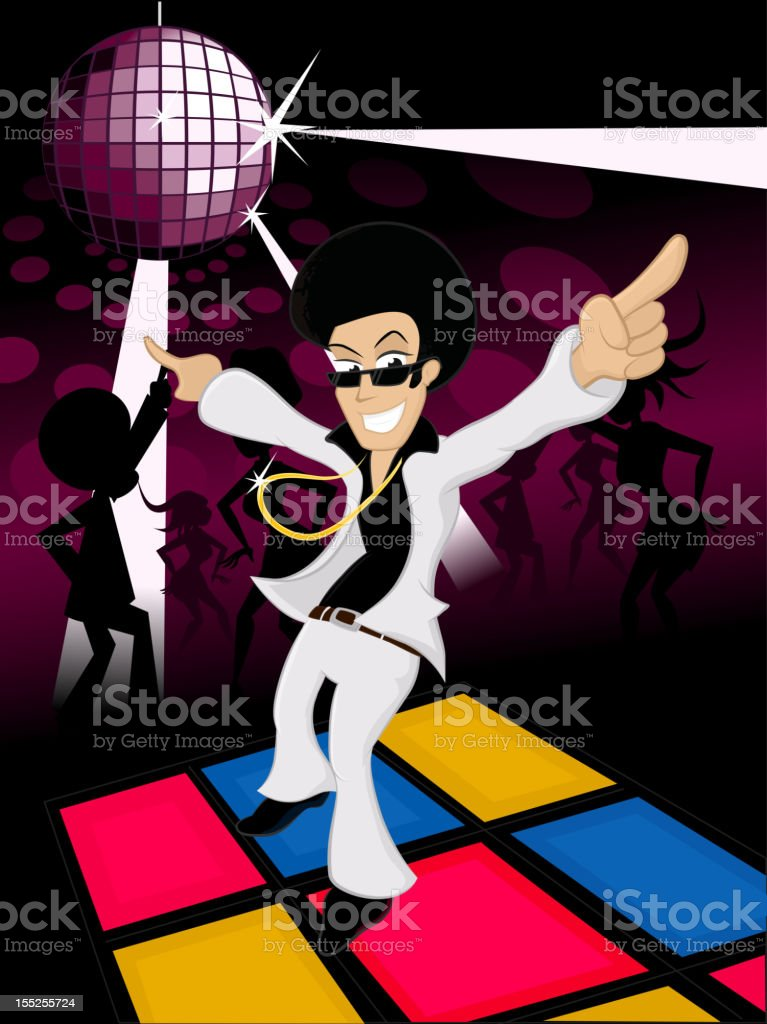 Disco fever vector art illustration