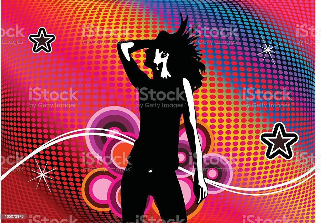 Disco girl royalty-free stock vector art