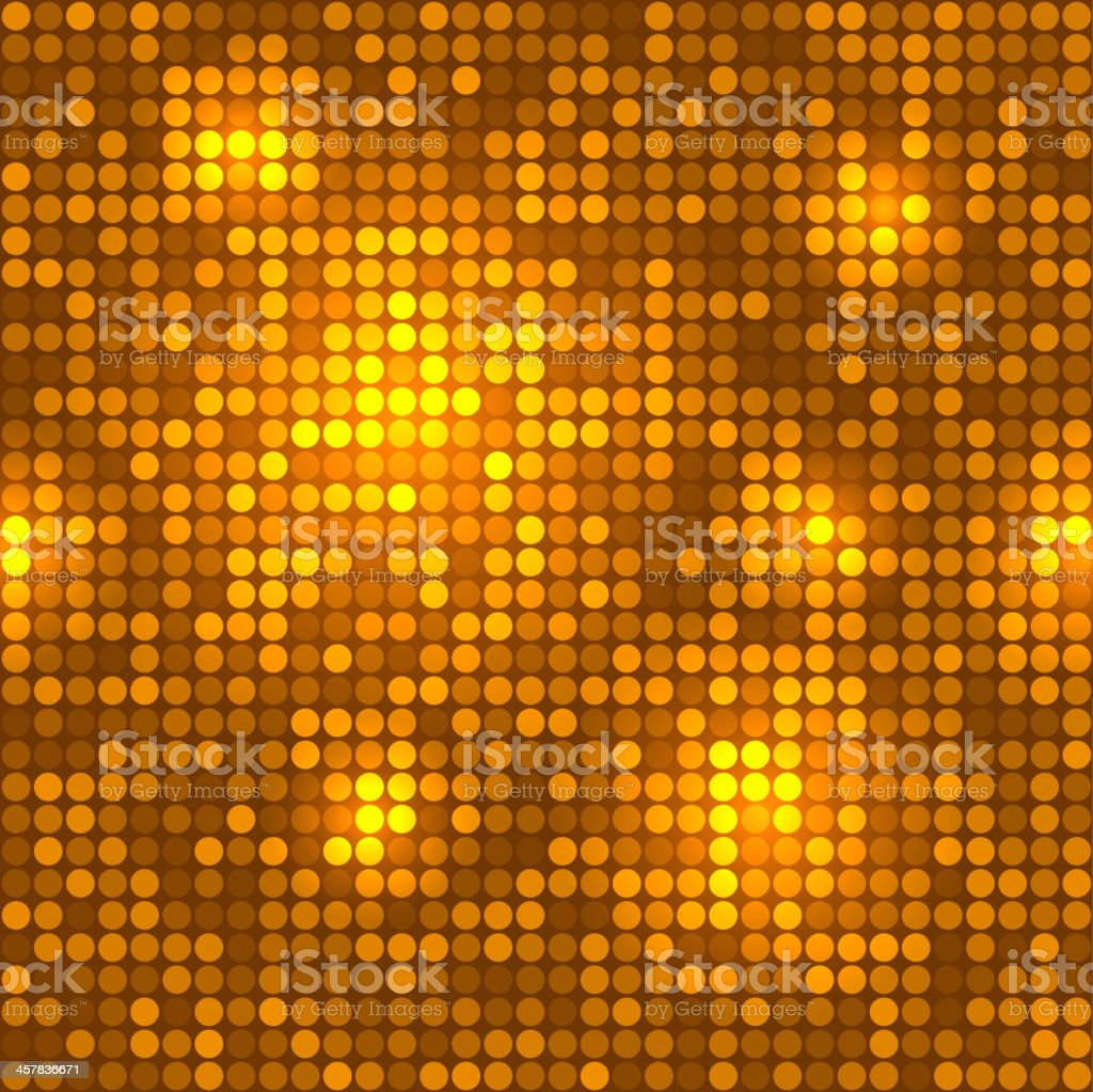 Disco golden background seamless pattern. royalty-free stock vector art