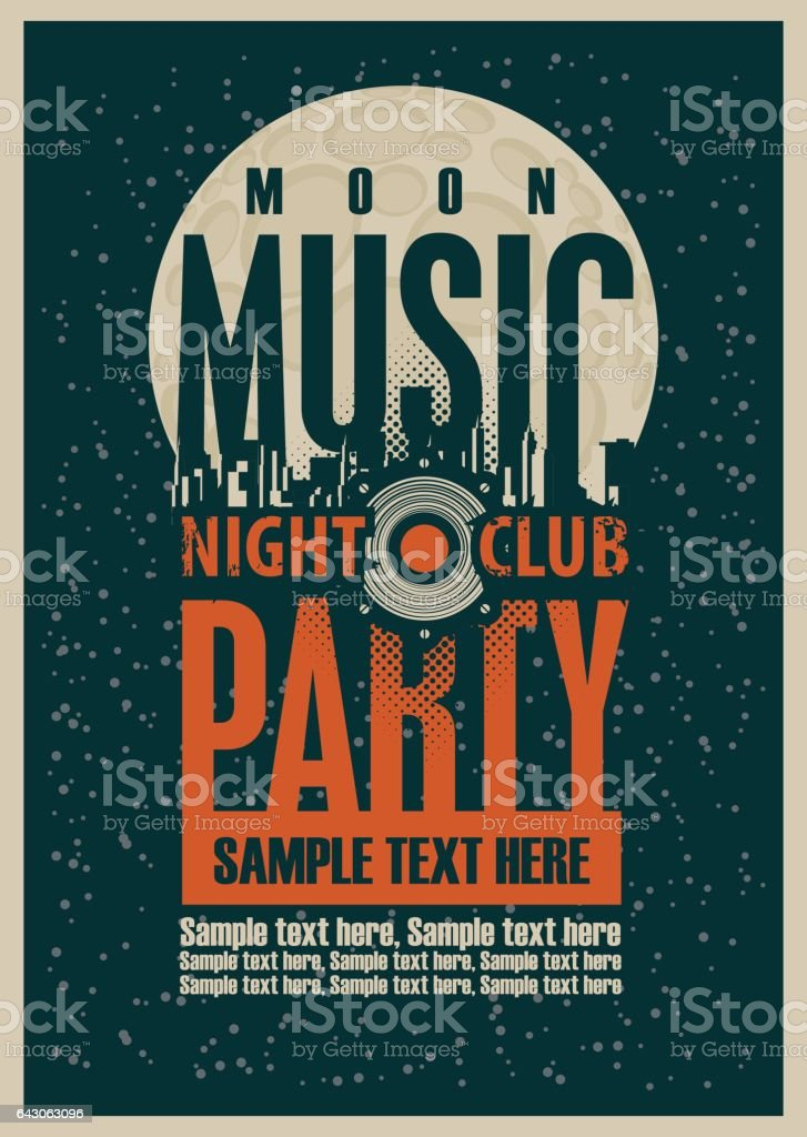 Disco Music party poster vector art illustration