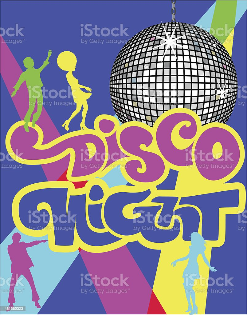 Disco Night Groovy vector art illustration