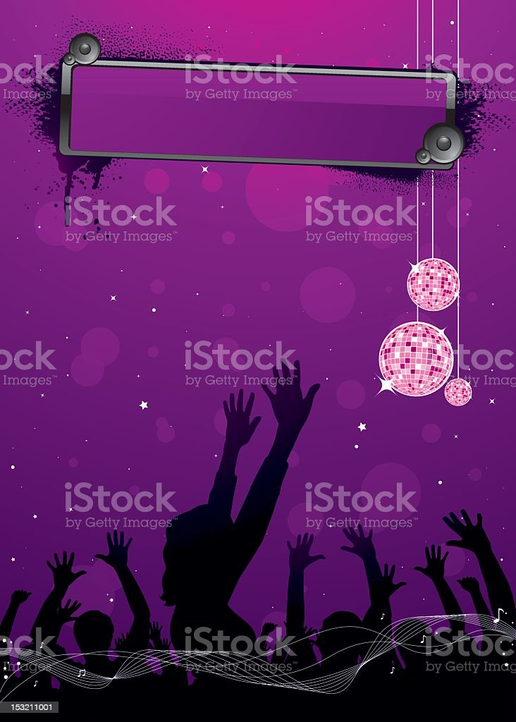 Disco party background royalty-free stock vector art