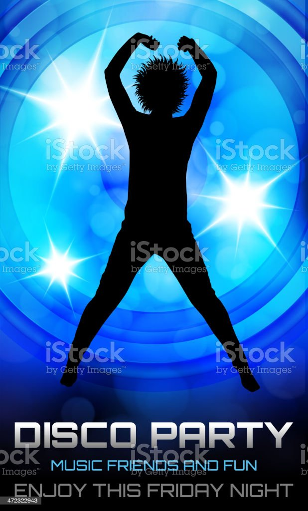 Disco party poster royalty-free stock vector art