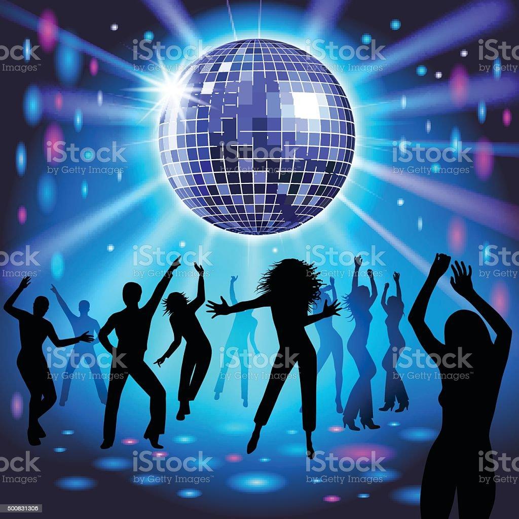 Disco party vector art illustration