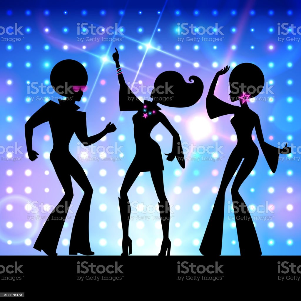 Disco party. Vector illustration. vector art illustration