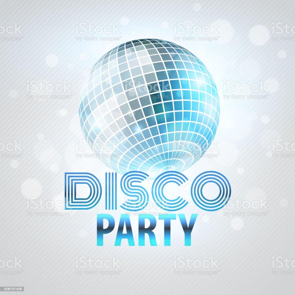 Disco party. Vector illustration vector art illustration