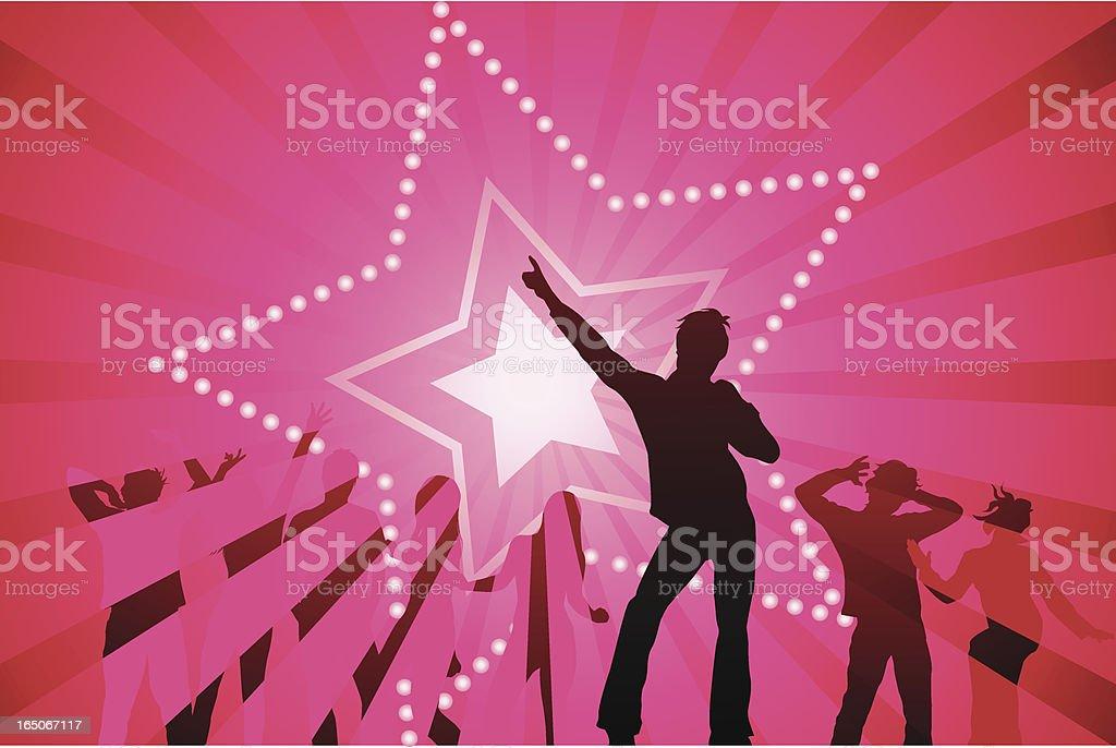 Disco star vector art illustration