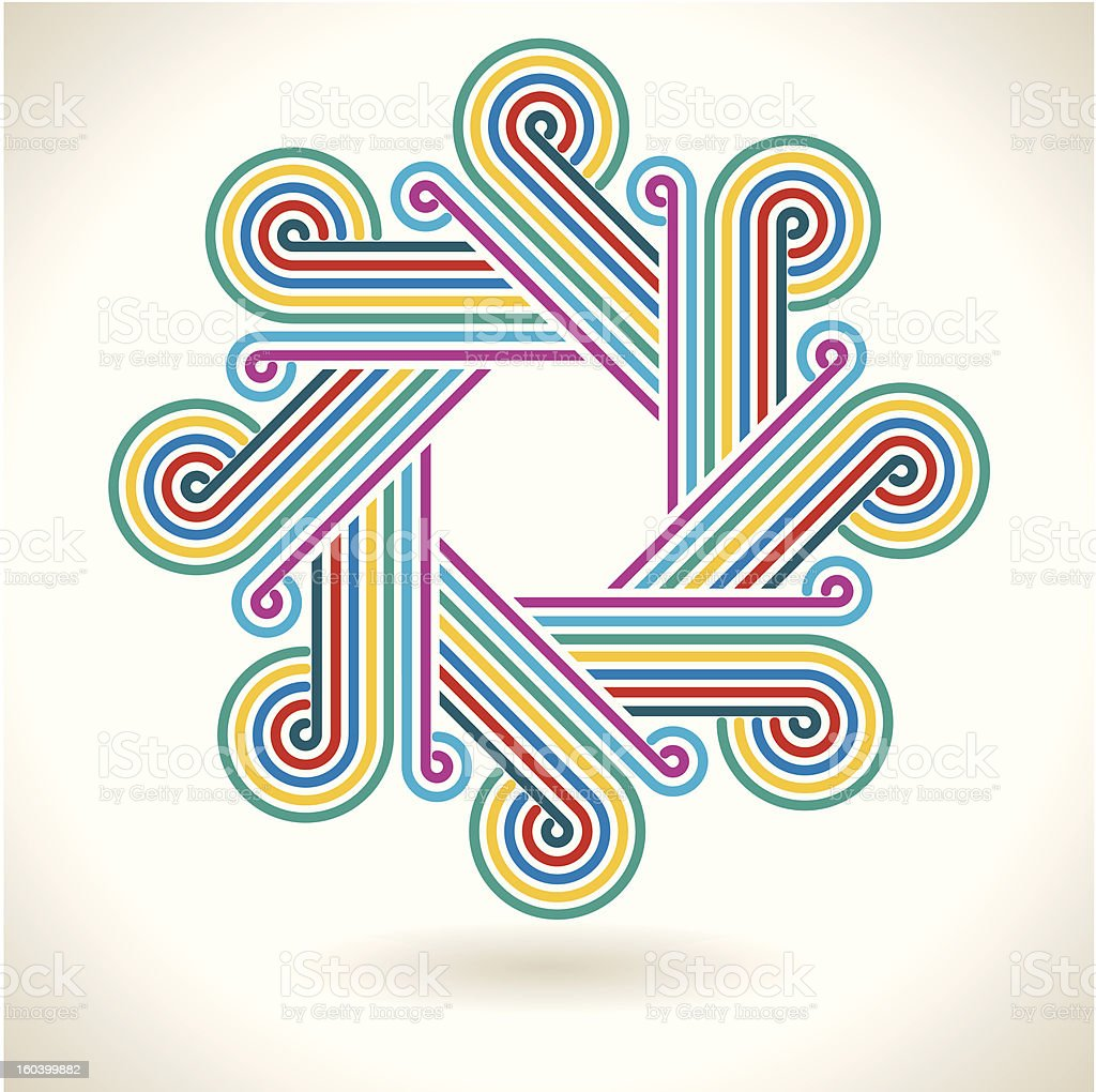 Disco style symbol. royalty-free stock vector art