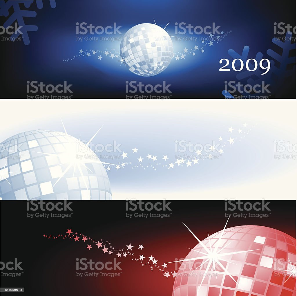 Discoball banners royalty-free stock vector art