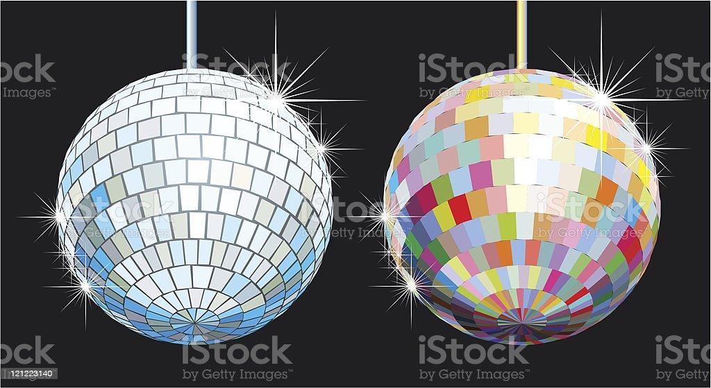disco-ball set royalty-free stock vector art