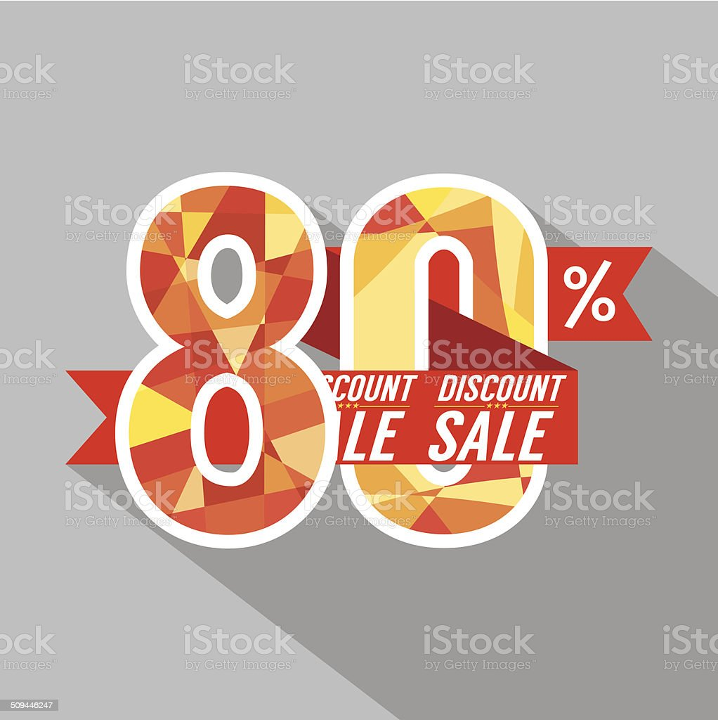 Discount 80 Percent Off Vector Illustration royalty-free stock vector art