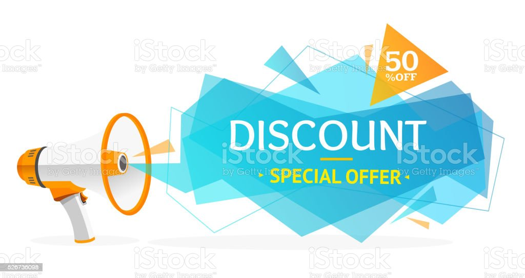 Discount Banner Sticker. Vector vector art illustration