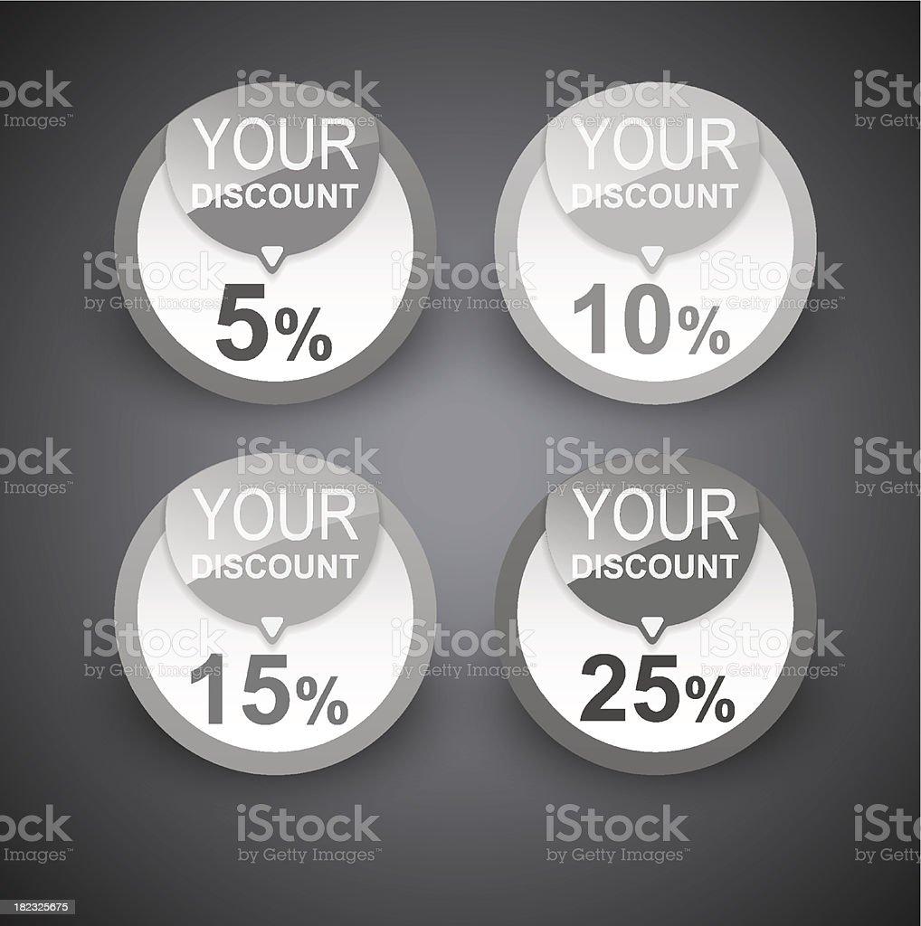 Discount labels. Vector royalty-free stock vector art