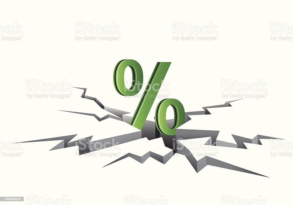 Discount Percentage vector art illustration