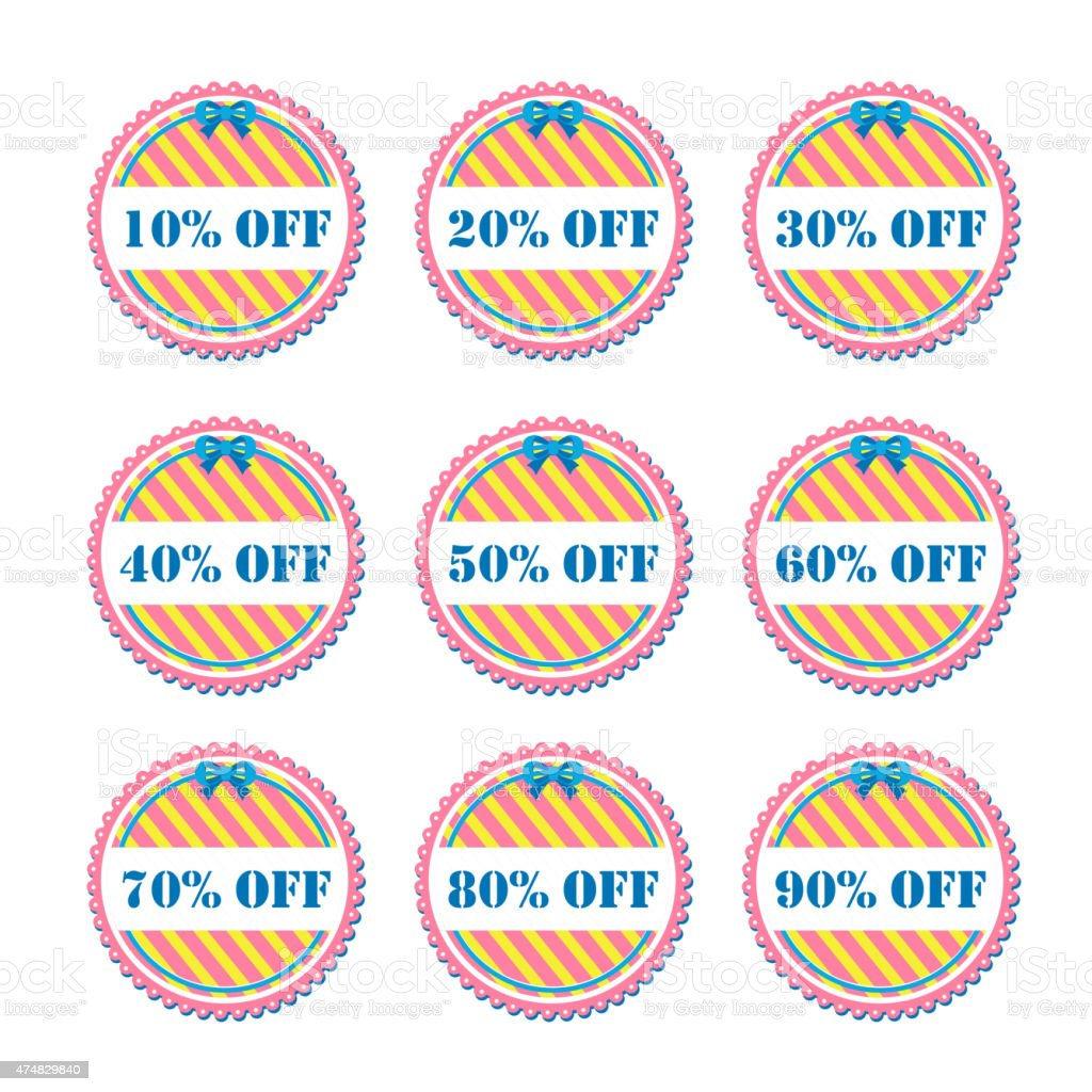 discount price tags vector art illustration