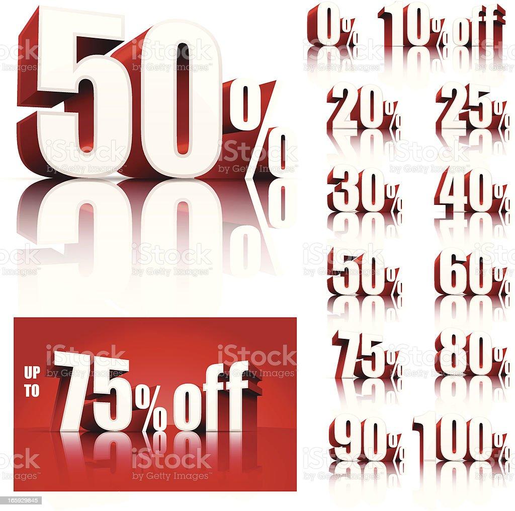 Discount Sale Set royalty-free stock vector art