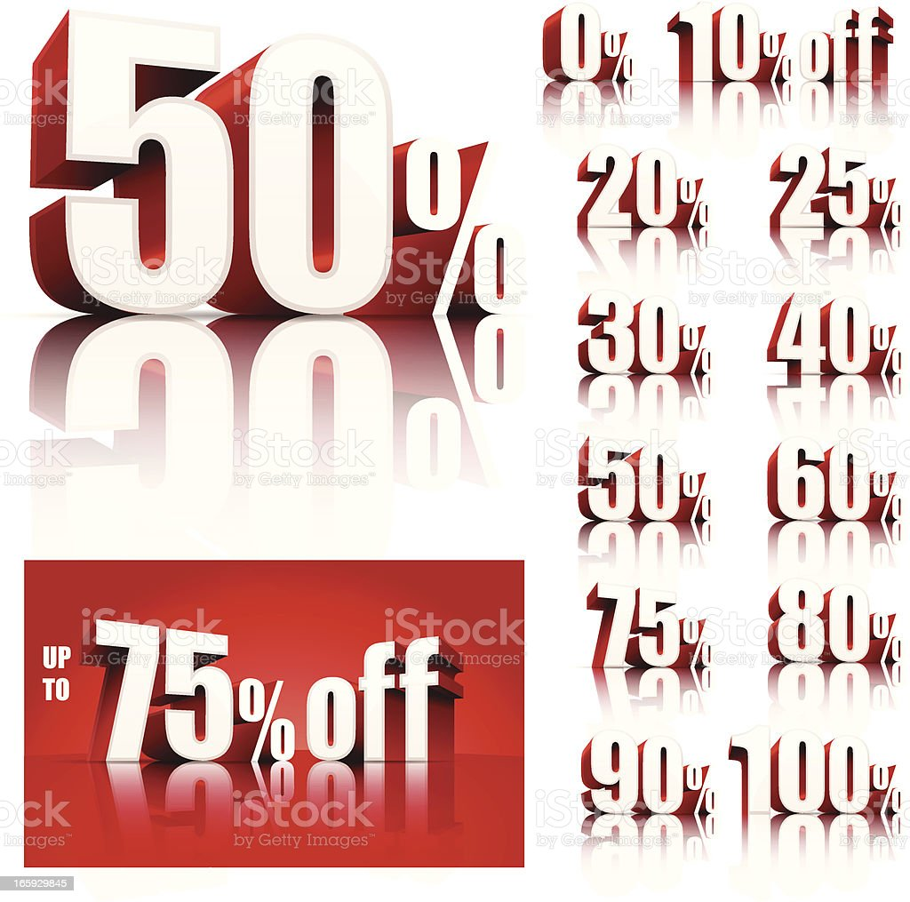 Discount Sale Set vector art illustration