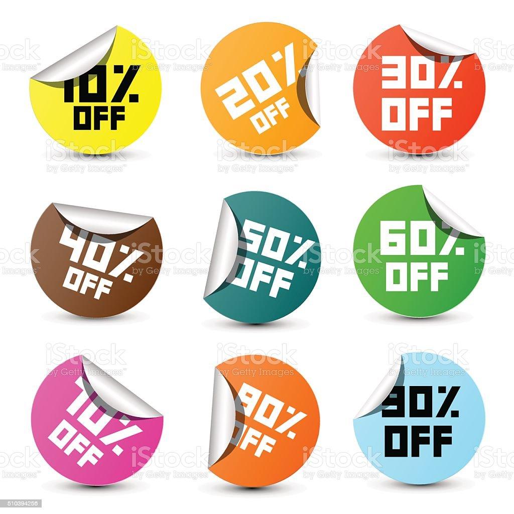 Discount Vector Labels Set vector art illustration