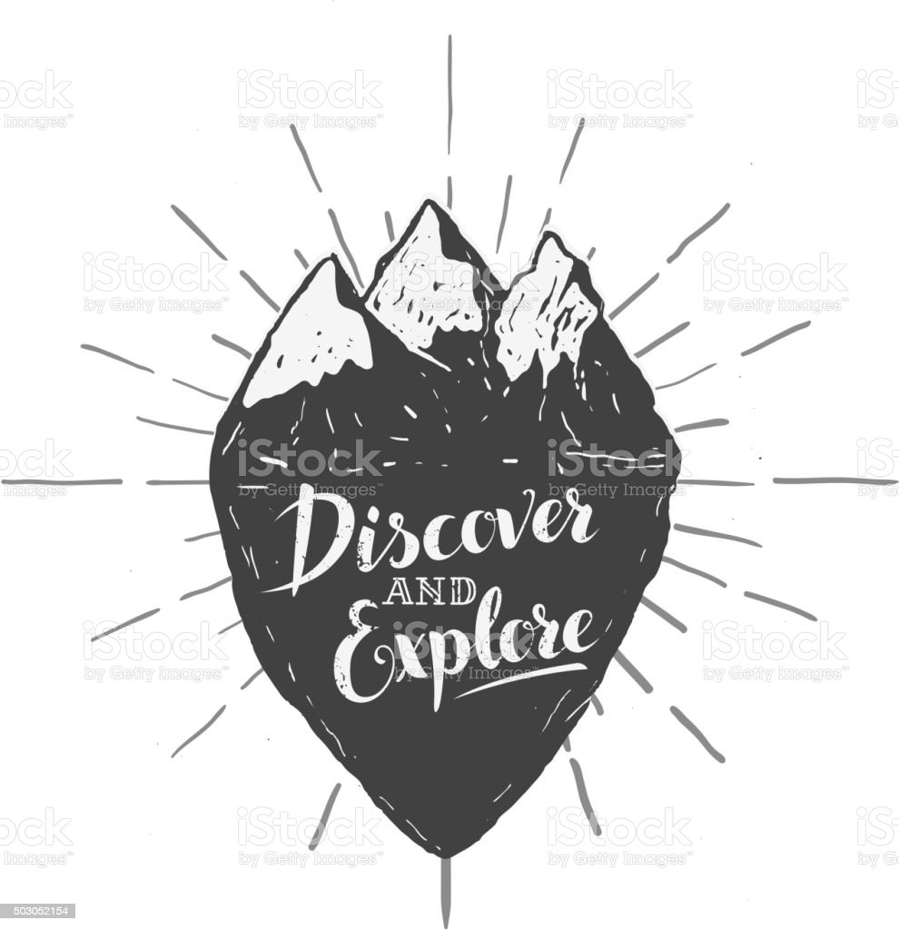 discover and explore. Vector illustration vector art illustration