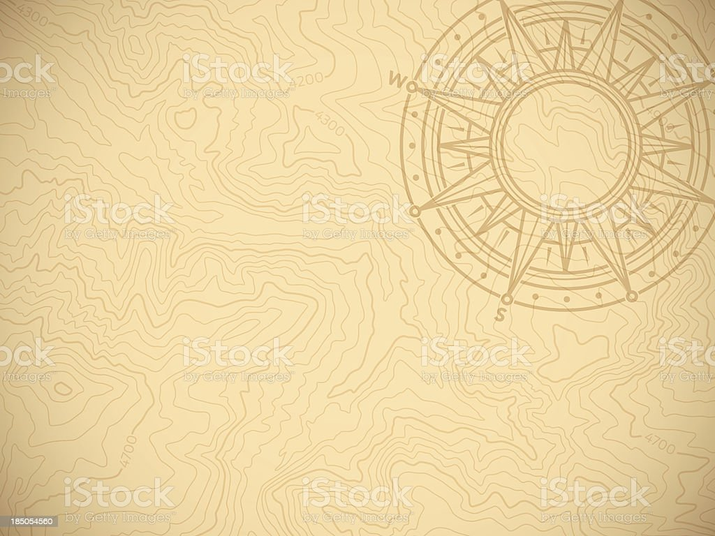 Discovery Topographic Map Background vector art illustration