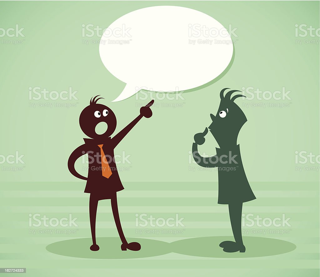 Discuss a problem royalty-free stock vector art