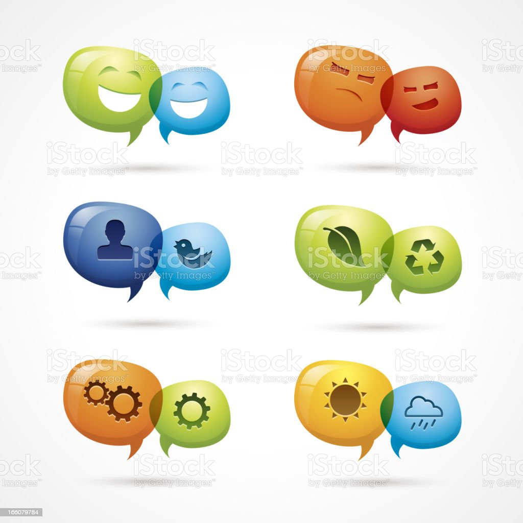 Discussion icons royalty-free stock vector art