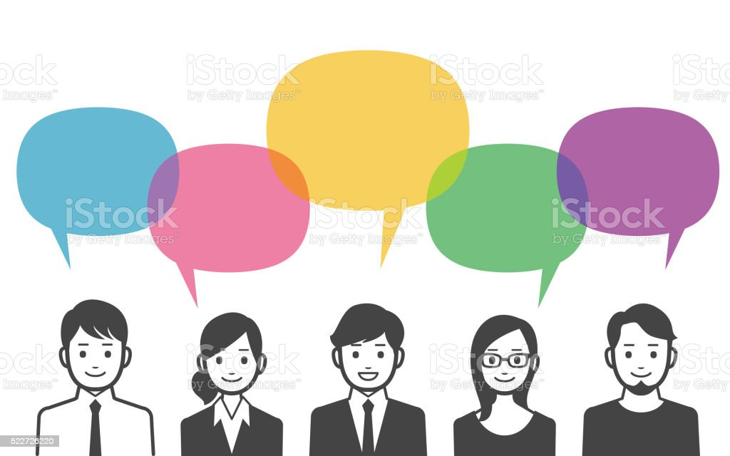 Discussion vector art illustration