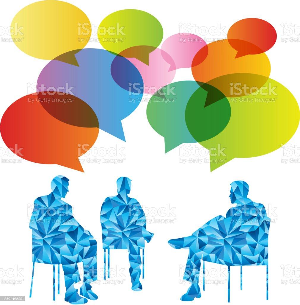 Discussion vector art illustration