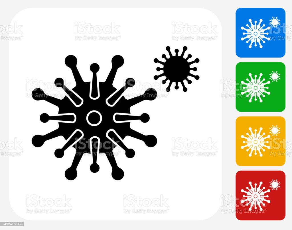 Disease Icon Flat Graphic Design vector art illustration