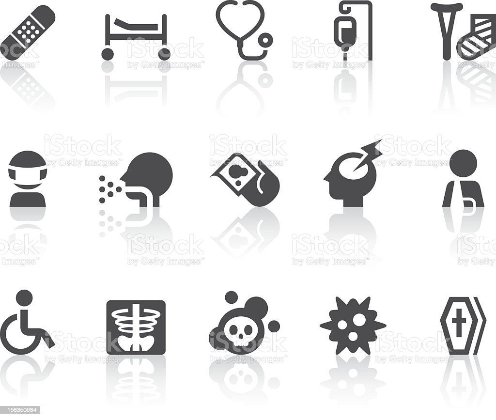 Disease Icons   Simple Black Series royalty-free stock vector art