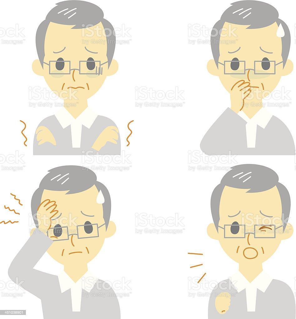 Disease Symptoms 01 royalty-free stock vector art