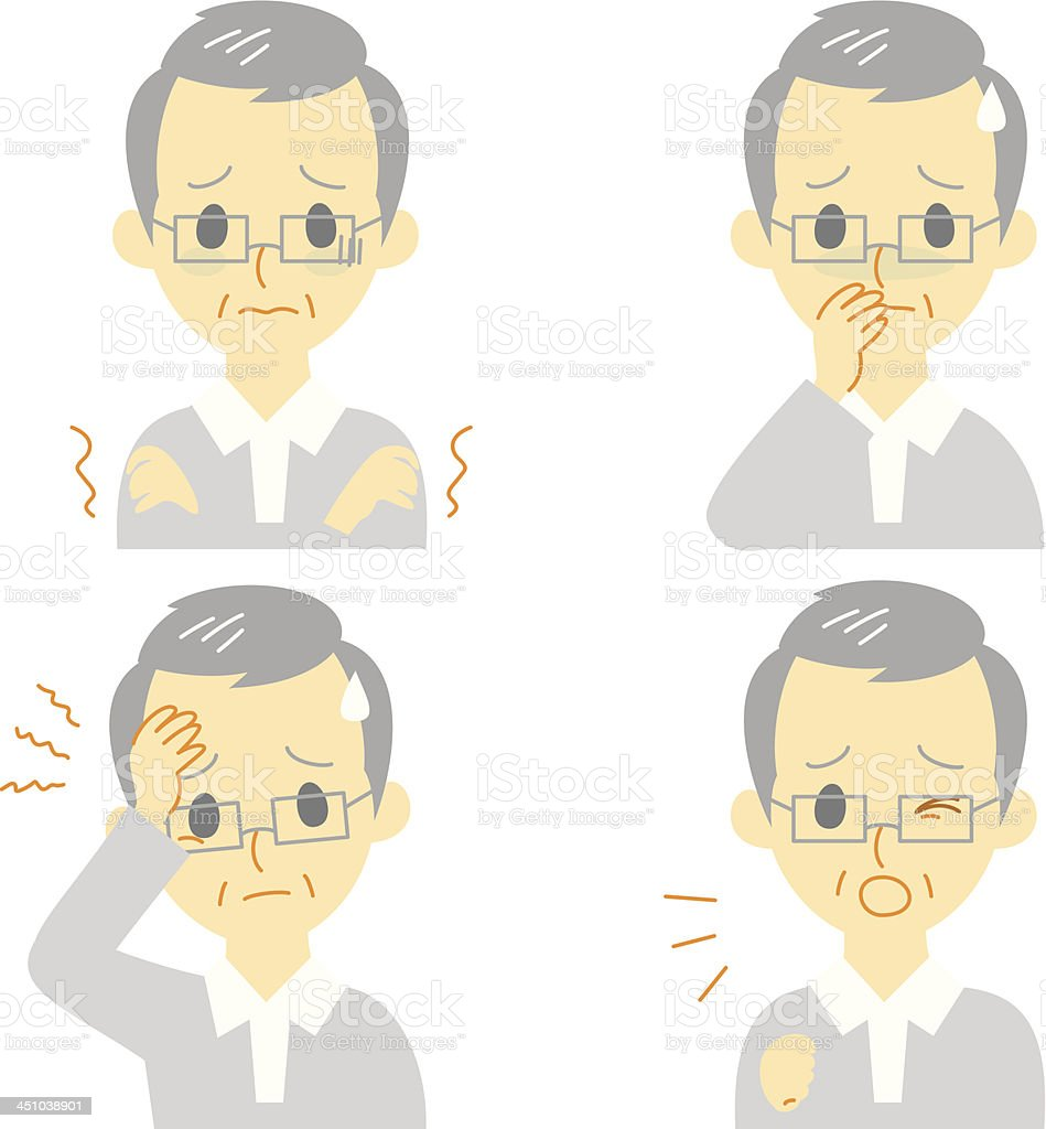 Disease Symptoms 01 vector art illustration