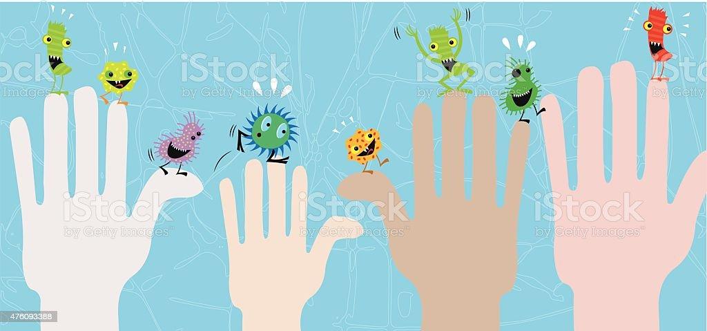 Diseases transmisson vector art illustration