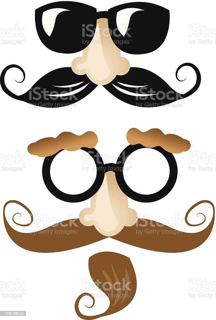 Disguises Joke glasses vector art illustration