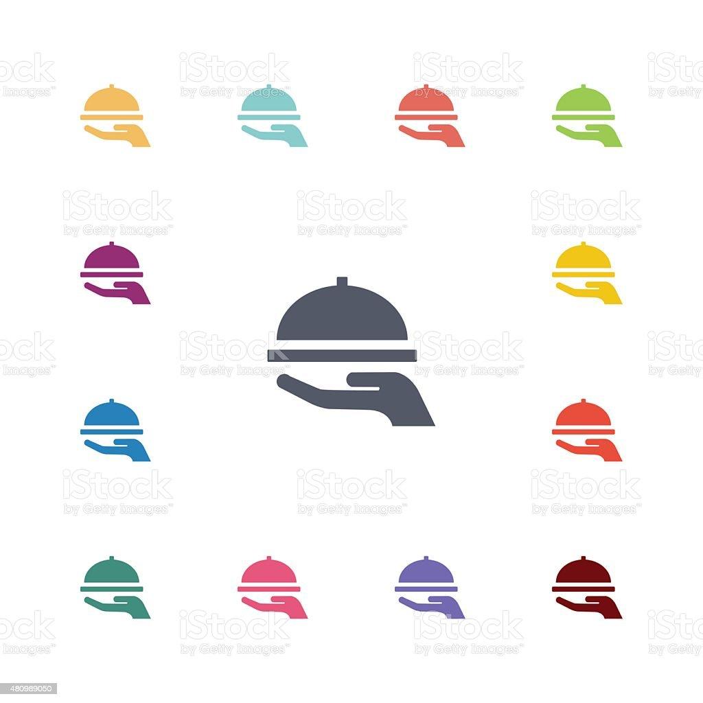 dish flat icons set vector art illustration