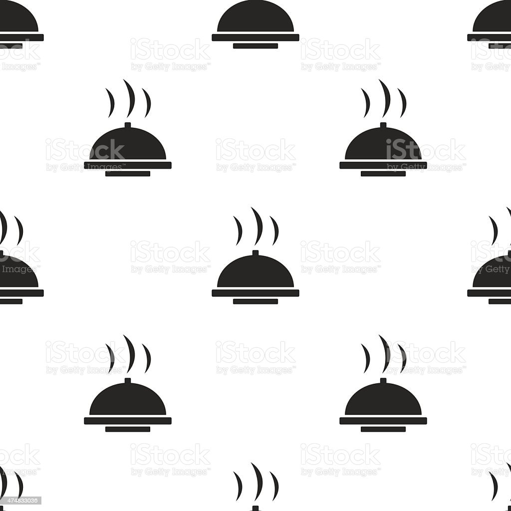 dish, vector seamless pattern vector art illustration