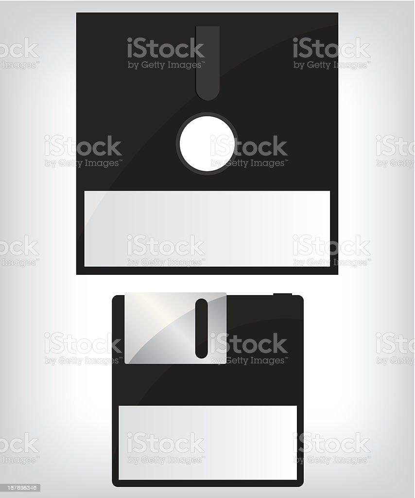 Diskette illustration royalty-free stock vector art
