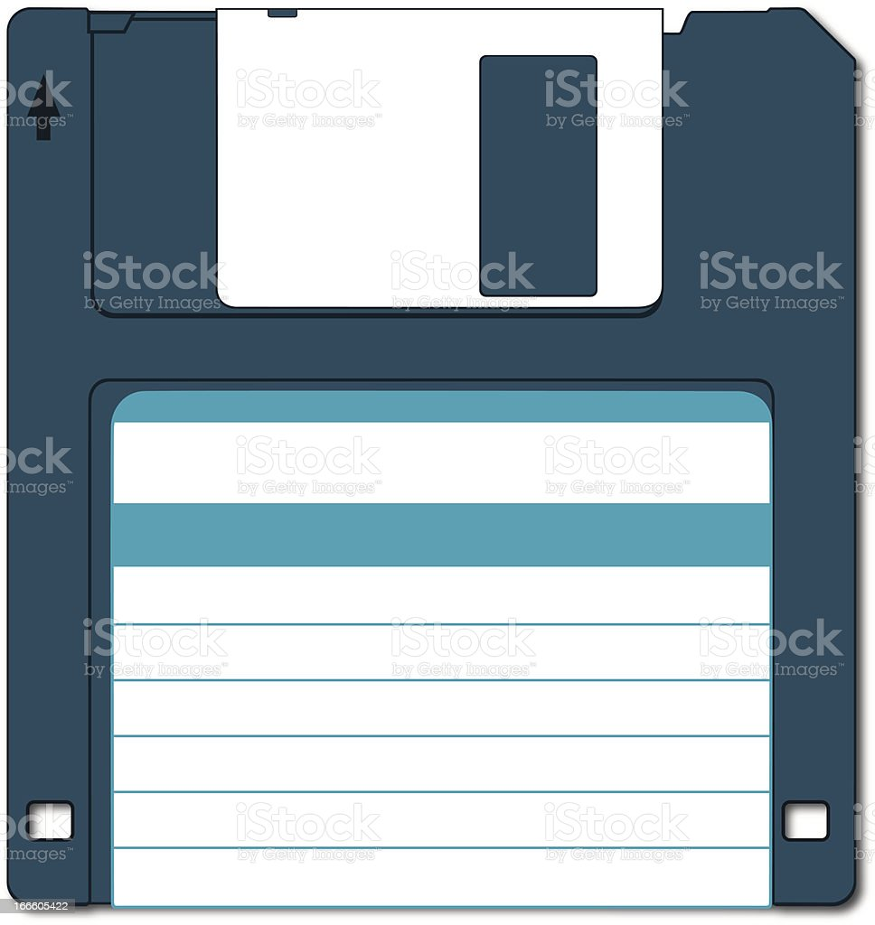 Diskette royalty-free stock vector art