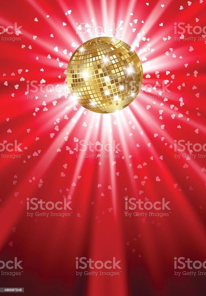 Disko ball vector art illustration