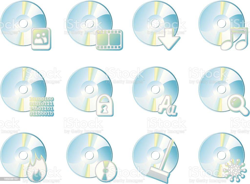 Disks royalty-free stock vector art