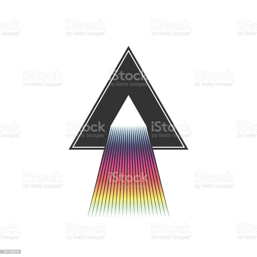 Dispersion abstract triangle illustration. vector art illustration