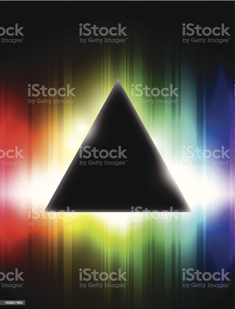 Dispersive prism vector art illustration