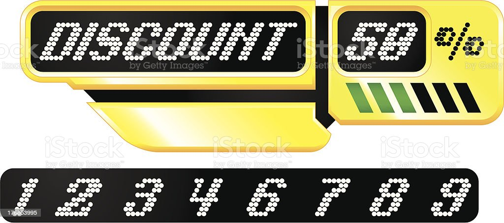 LED display discount banner royalty-free stock vector art