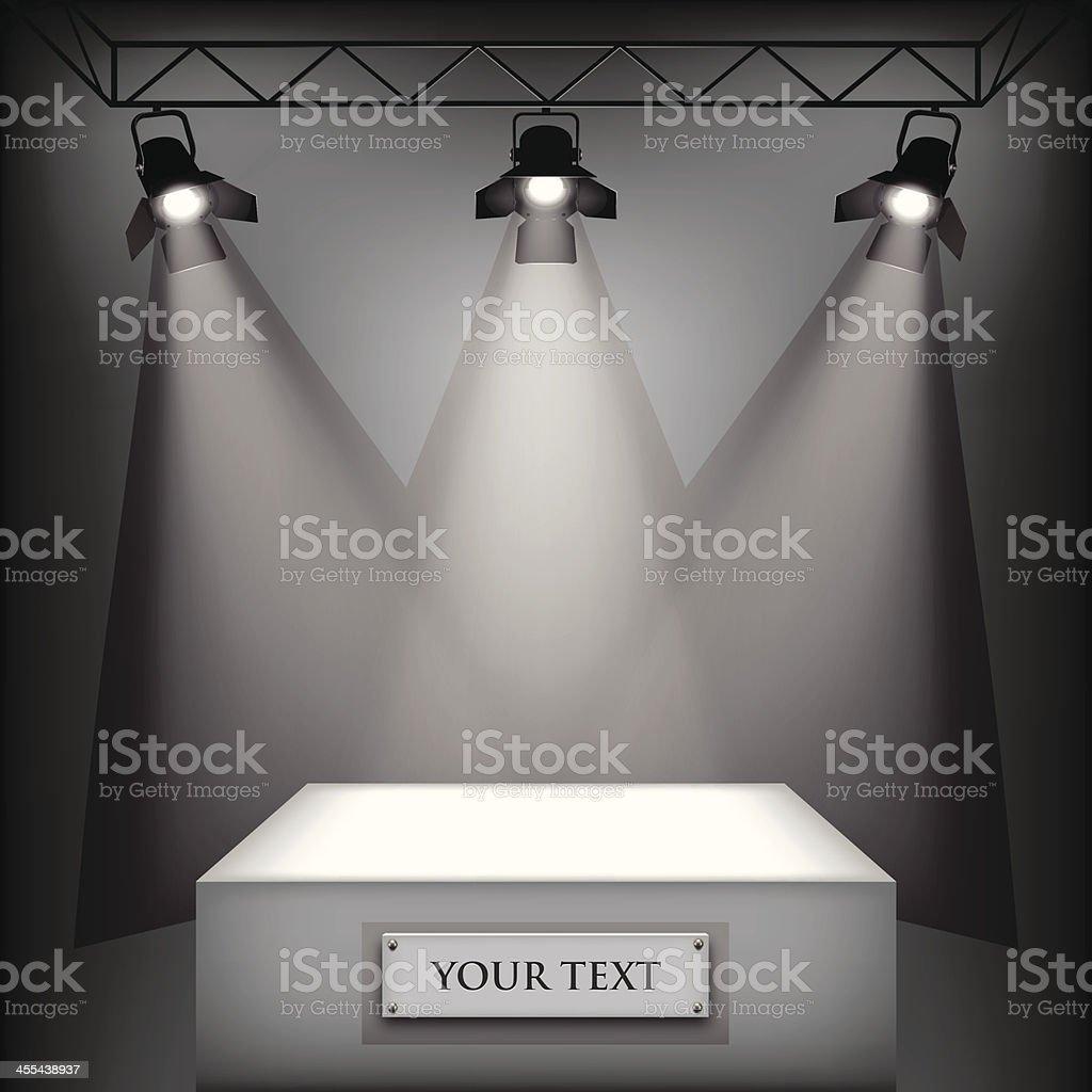 Display Pedestal vector art illustration
