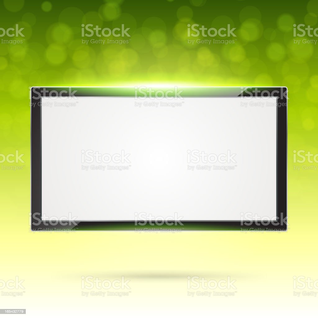 Display screen with light vector background royalty-free stock vector art