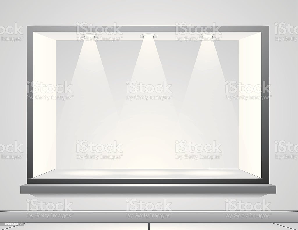 Display Window vector art illustration