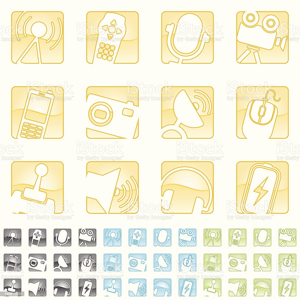 distorted equipment icons royalty-free stock vector art