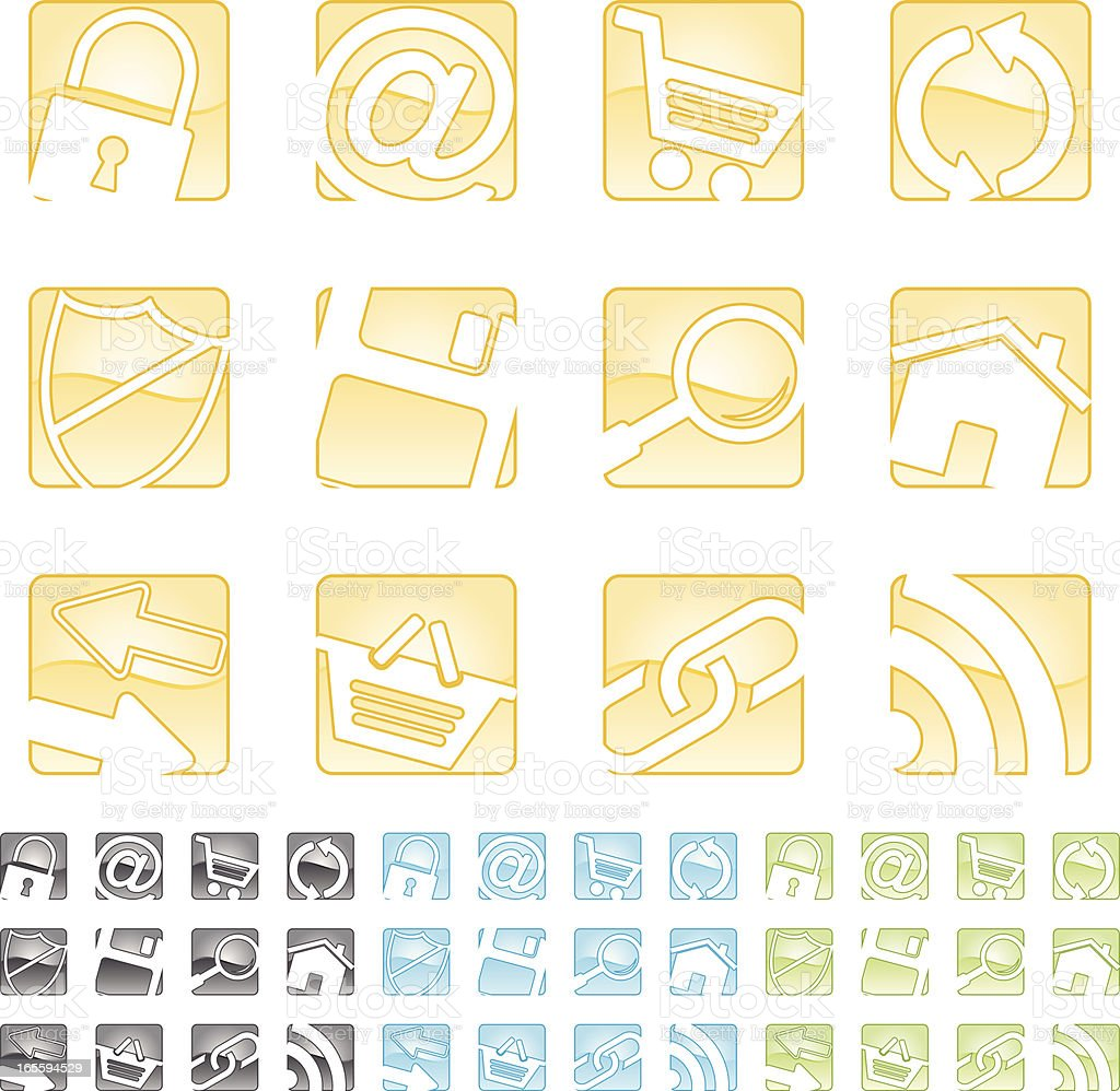 distorted internet icons royalty-free stock vector art