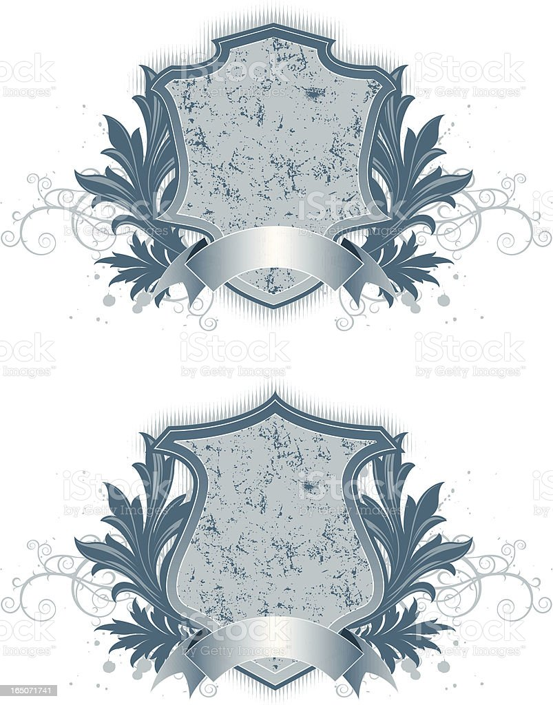 distressed crest II royalty-free stock vector art