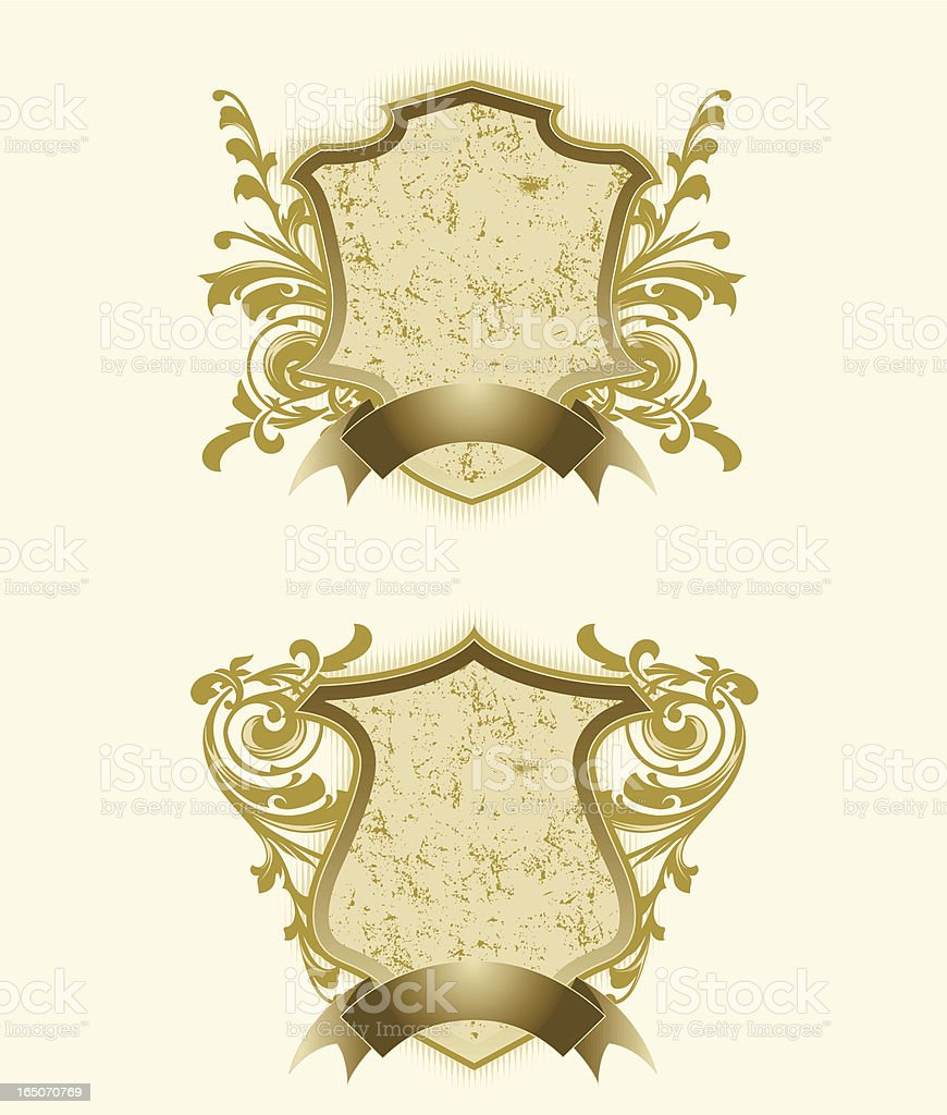 distressed crest royalty-free stock vector art